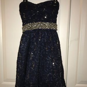 Sequined Navy Dress size 1